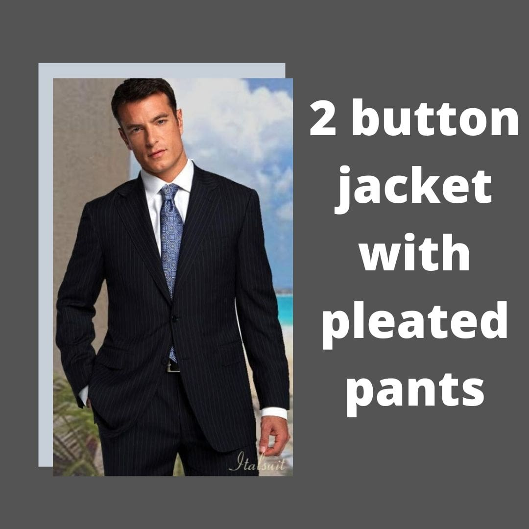 Many Styles, Colors And Sizes, Two Button Suits With Pleated Pants for Men