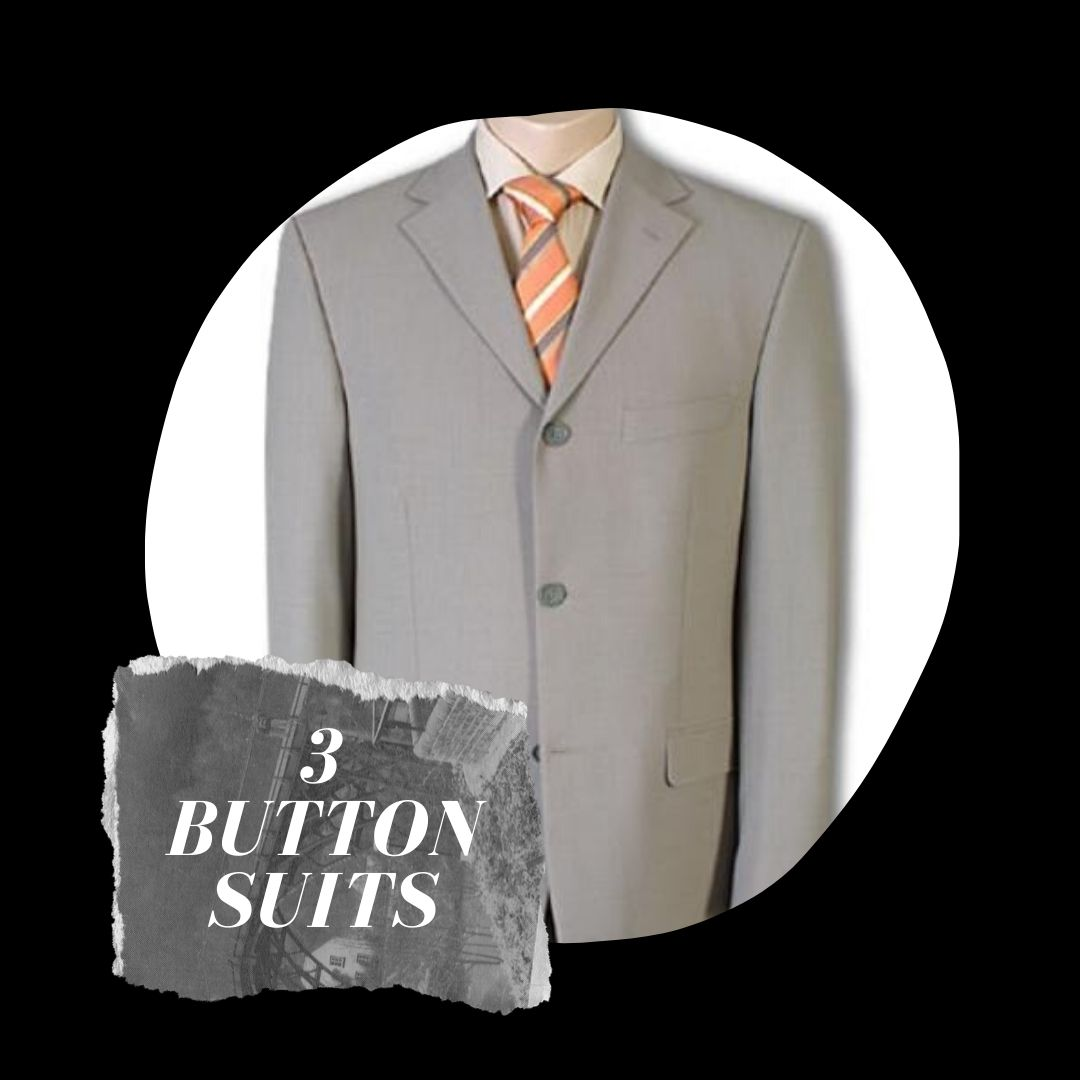 Many Styles, Colors And Sizes, Three Button Suits for Men