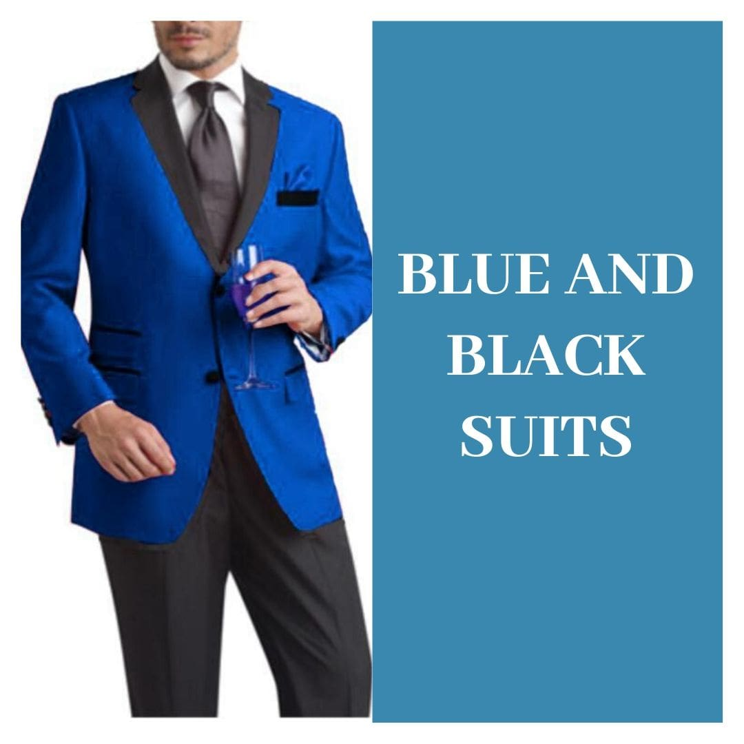 Many Styles, Colors And Sizes, Blue and Black Suit for Men