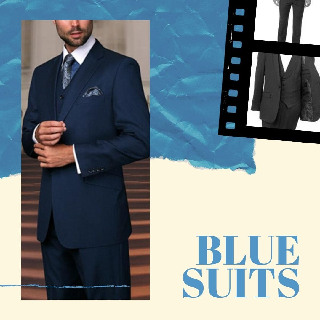 blue suits mens