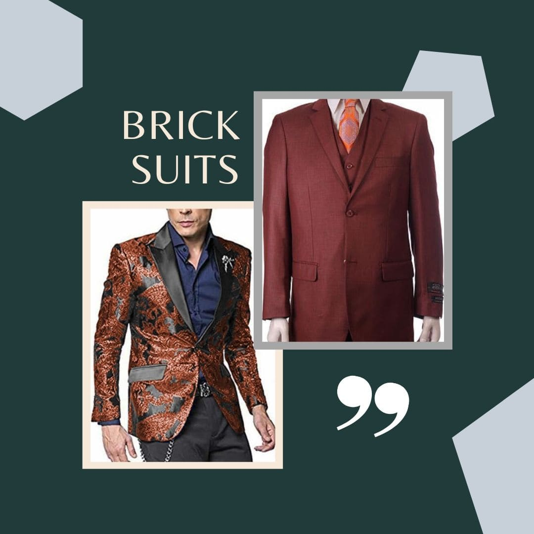 Many Styles, Colors And Sizes, Brick Suits for Men