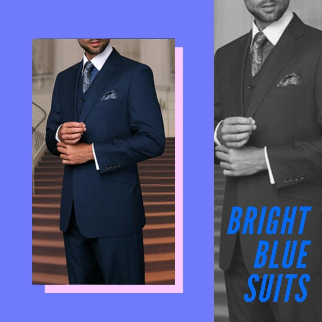Many Styles, Colors And Sizes, Bright Blue Suits for Men