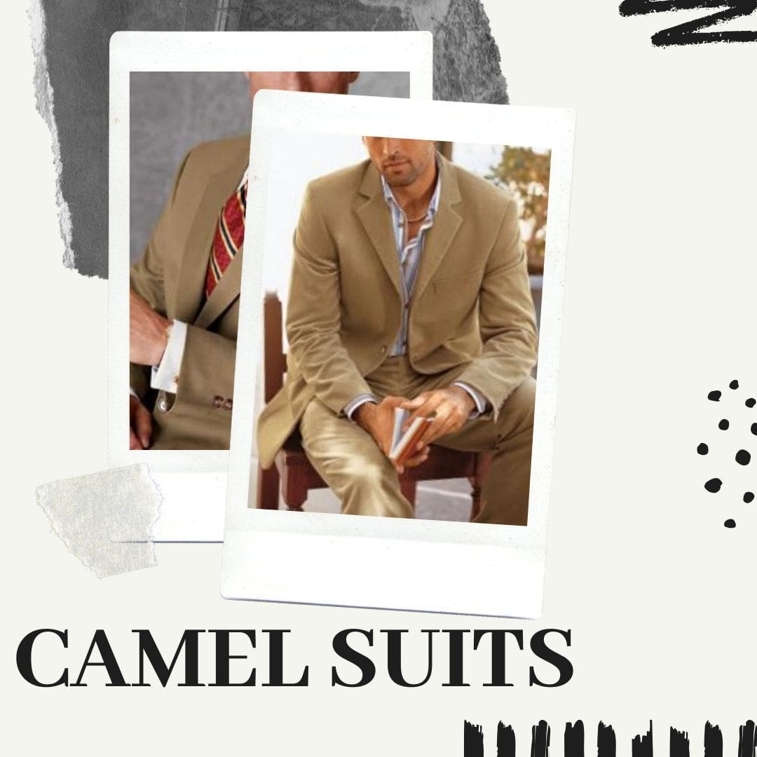 Many Styles, Colors And Sizes, Camel Suits for Men