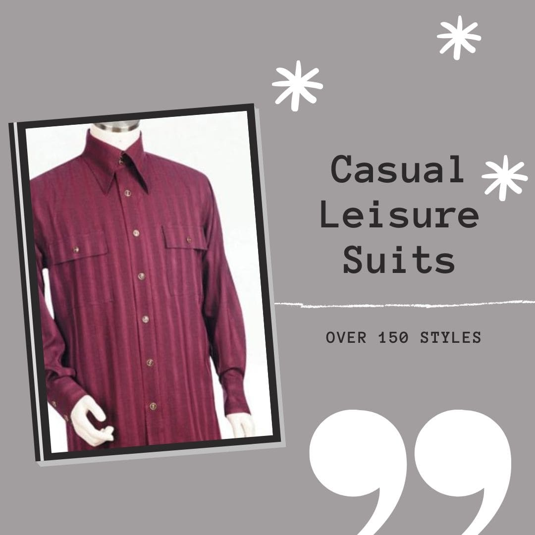get comfortable in our casual leisure suits for men