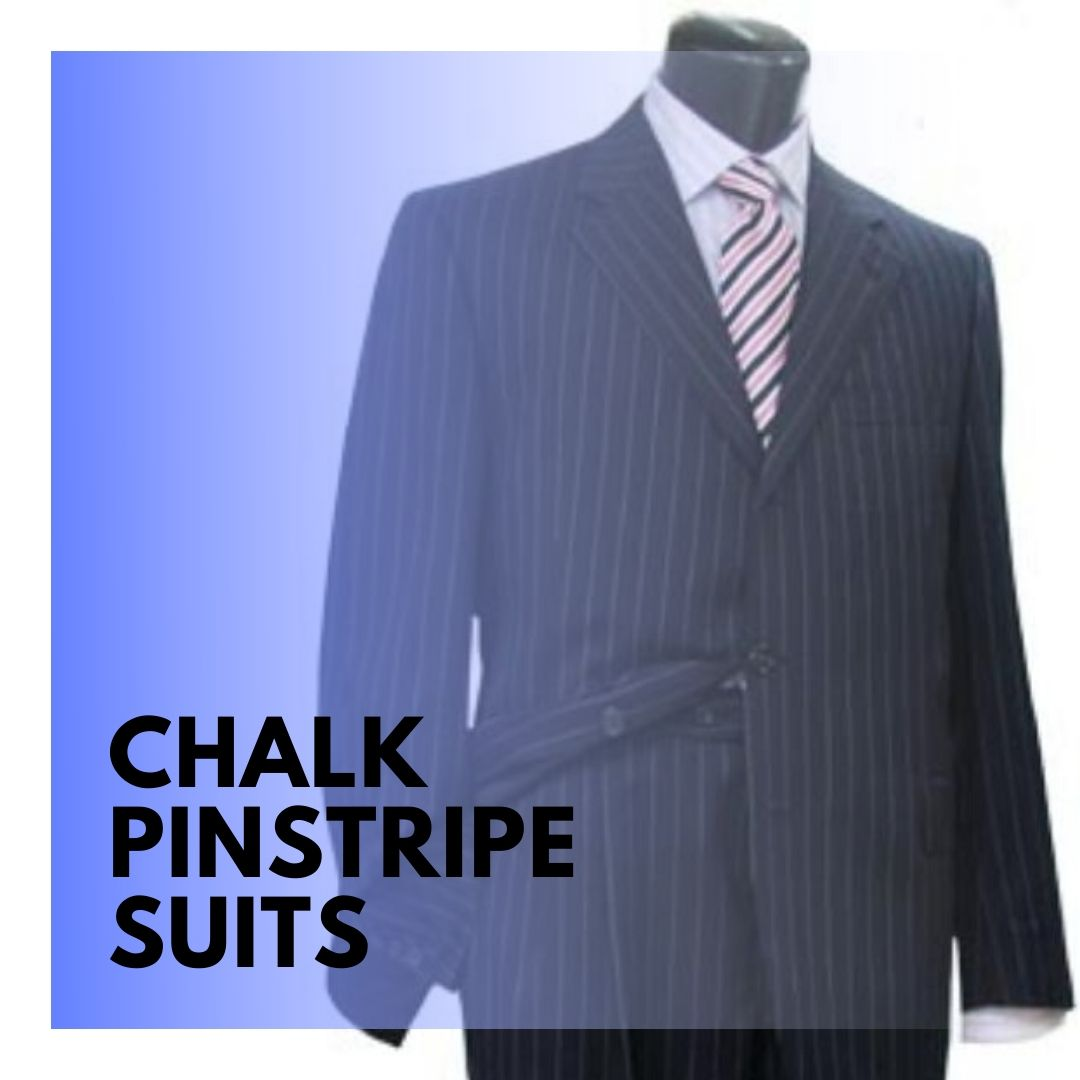 Many Styles, Colors And Sizes, Chalk Pinstripe Suits for Men