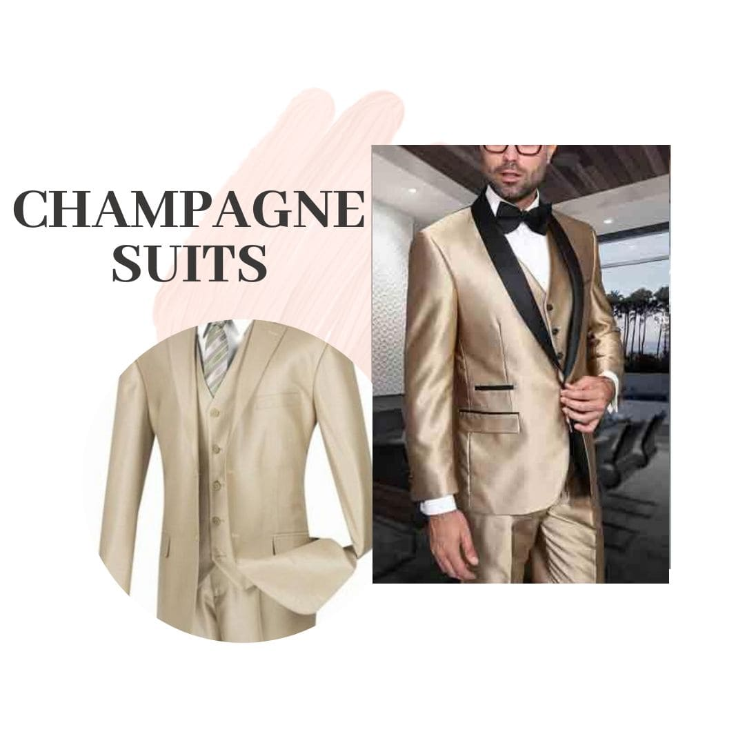 Many Styles, Colors And Sizes, Champagne Suits for Men
