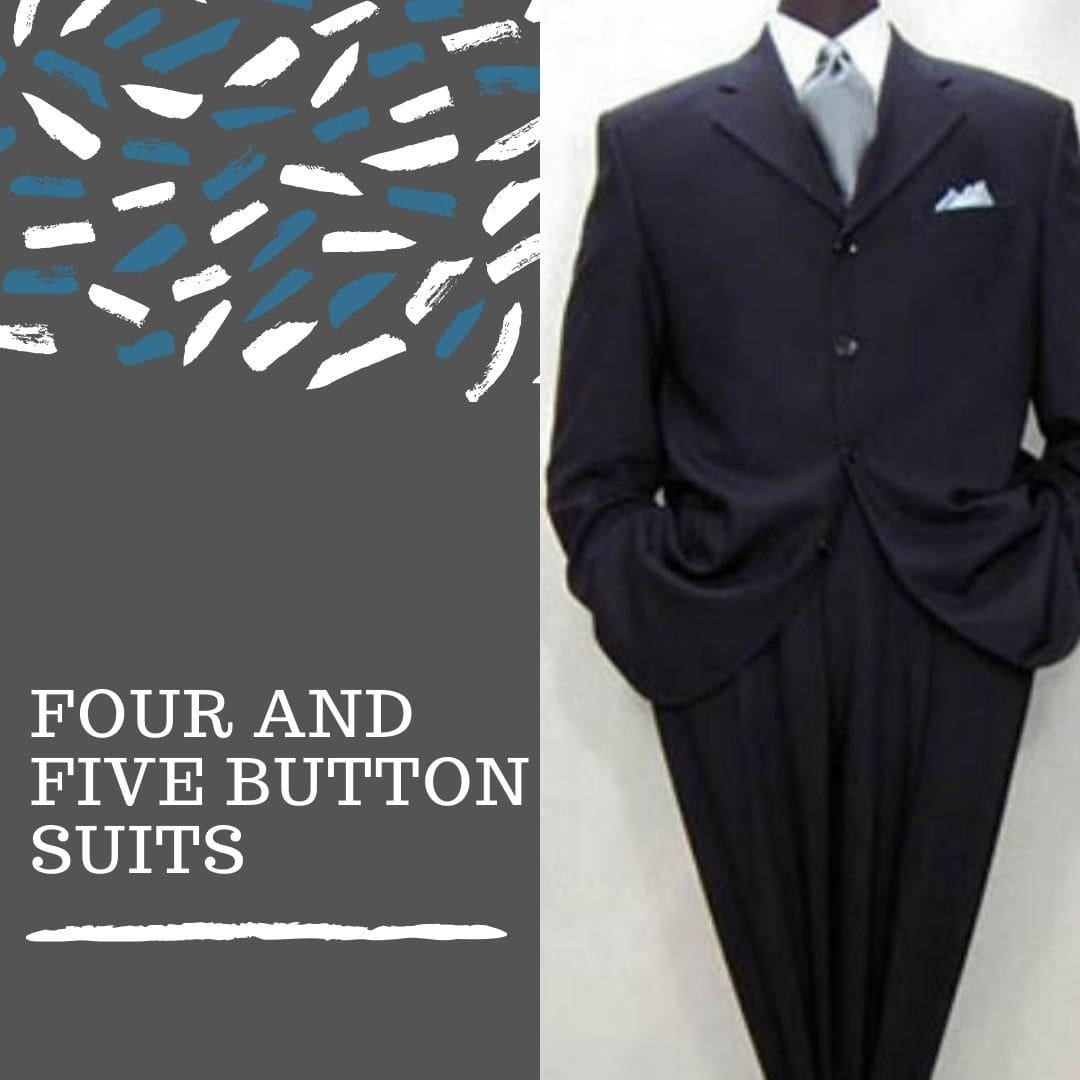 Many Styles, Colors And Sizes, four and five button suits for men