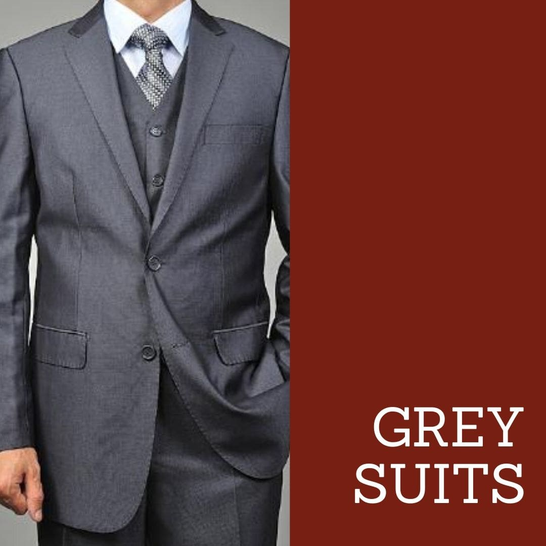 Many Styles, Colors And Sizes, Grey suits for Men
