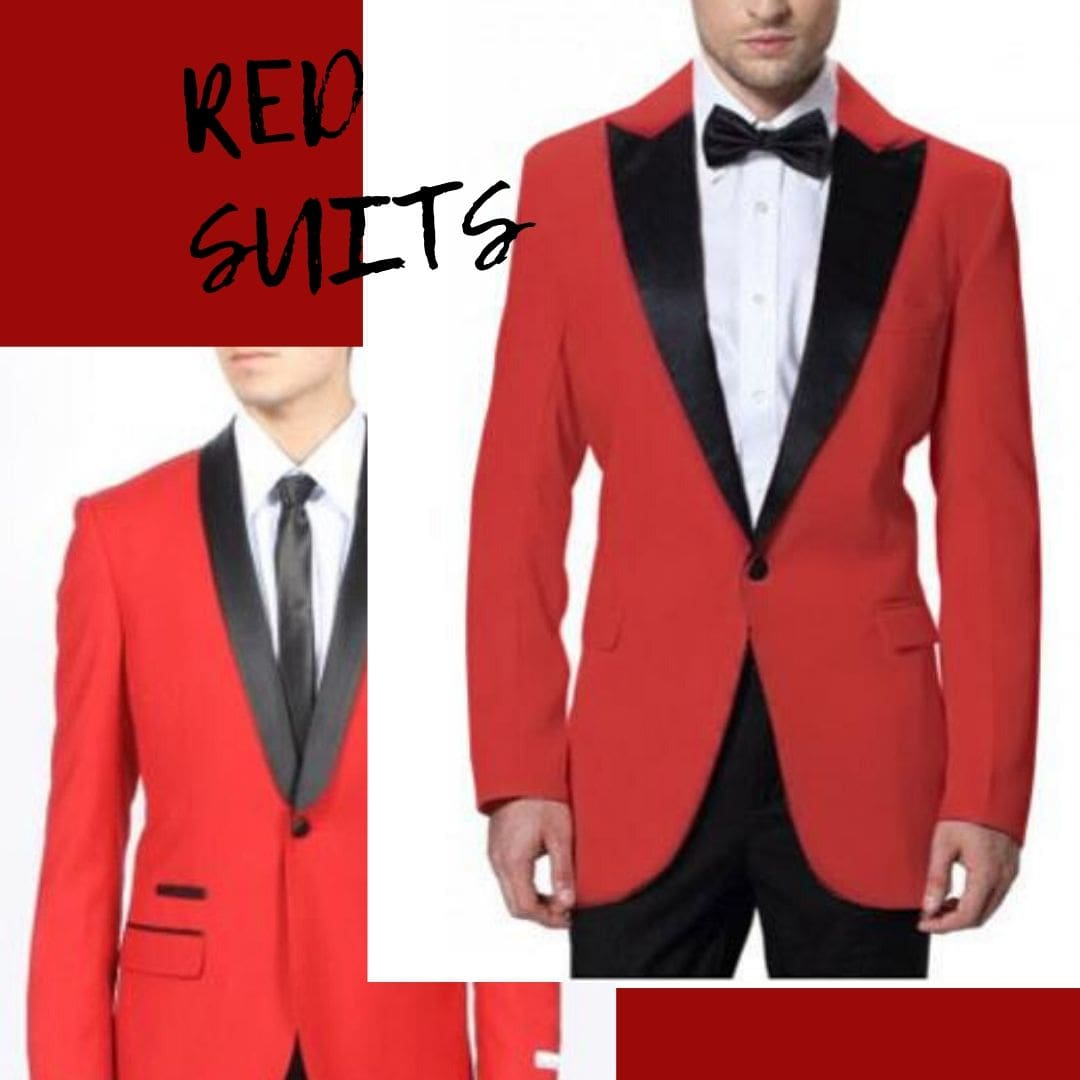 Mens Red Suits