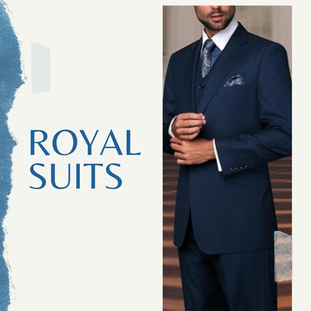 Mens Royal Blue Suits