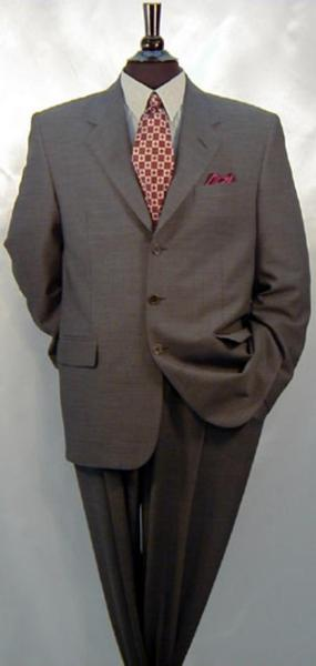 Dark Grey Masculine color Three Buttons Wool Suit, act now only $135.00