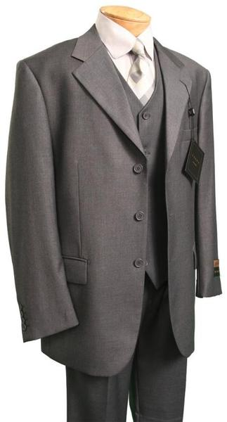 Gray Three Button Single Breasted Suit For Mens, act now only $139.00