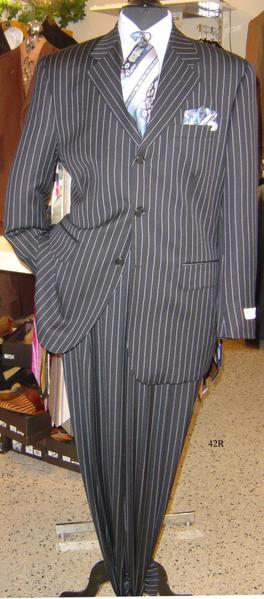 Mens Sharp Bold Pinstripe Zoot Suit In White, act now only $149.00