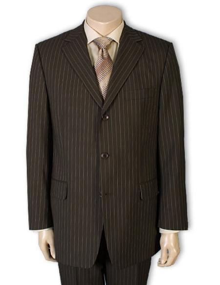 Mens Three Button Style brownb Pinstripe Light Weight Suit, act now only $139.00
