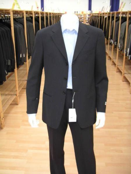 Navy Blue Three Button Single Breasted  Mens Suit, act now only $79.00