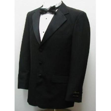 Mens Liquid Jet Black Three Button Style Single Breasted Suit, act now only $99.00