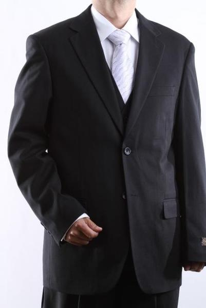 Mens Tonal Vested Dress Suit In Liquid Jet Black , act now only $300.00