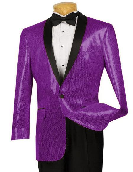 One Button Single Breasted Dark Purple Mens Dinner Jacket, act now only $175.00