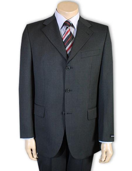 Mens Masculine Three Button Style Suit In Dark Gray, act now only $119.00