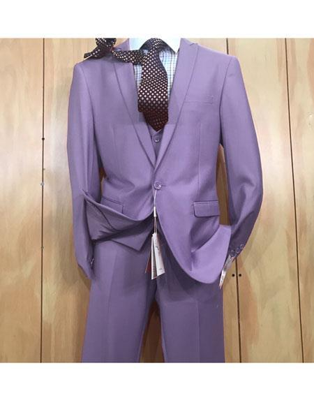 One Button Style Violet Peak Lapel Mens Suit, act now only $175.00