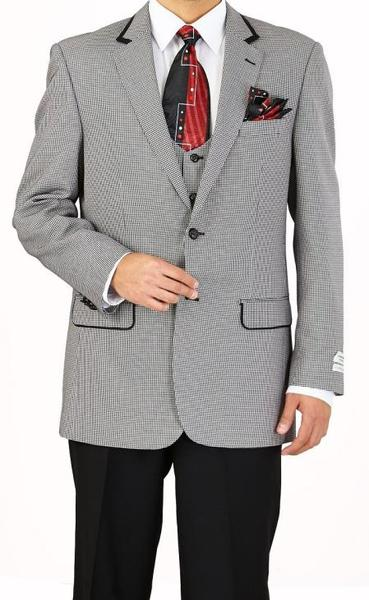 Two Button Style Gray Houndstooth Mens Suit, act now only $160.00