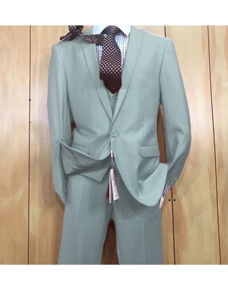 One button style single-breasted Mens Light Blue Suit, act now only $175.00