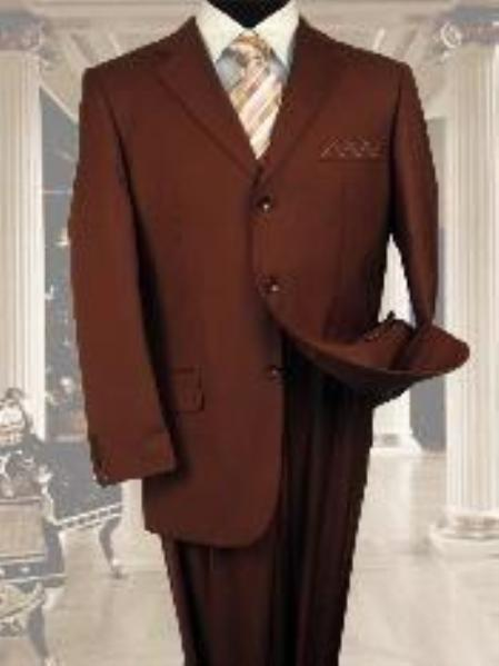 Three Button Copper Rust Light Weight Mens Suit, act now only $139.00