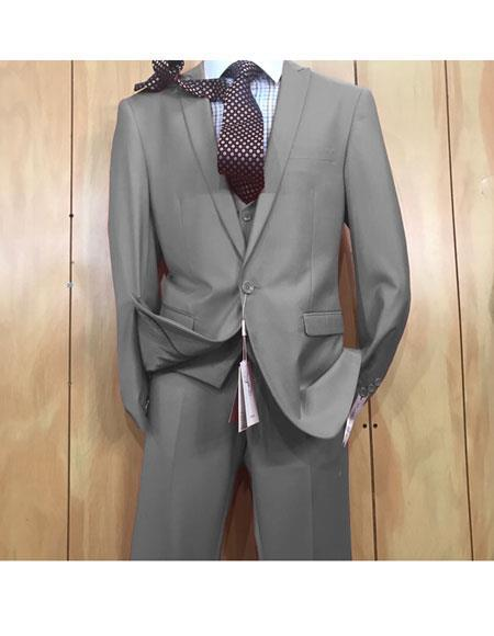 One button style Grey Single Breasted Mens Suit, act now only $175.00