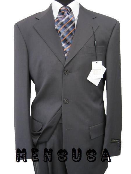 Three Button Style Dark Grey Masculine Suit For Mens, act now only $135.00