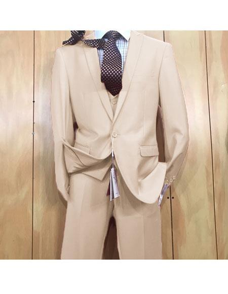 One button style Bone Peak Lapel Suit For Mens, act now only $175.00