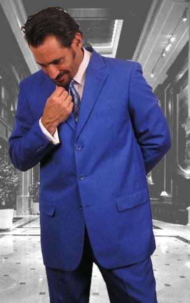Royal Blue Three Button Single Breasted Dress Suits, act now only $109.00