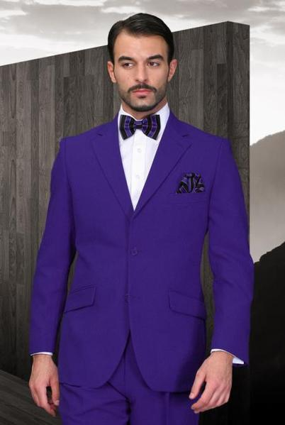 Two Button Style Purple notch collar Mens Suit, act now only $120.00