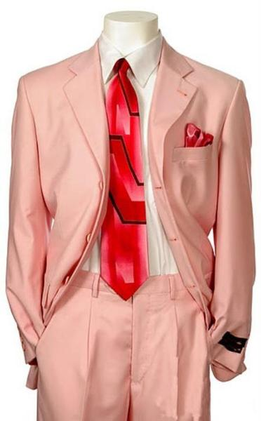 Mens Three Button Pink Single Breasted Suit, act now only $139.00