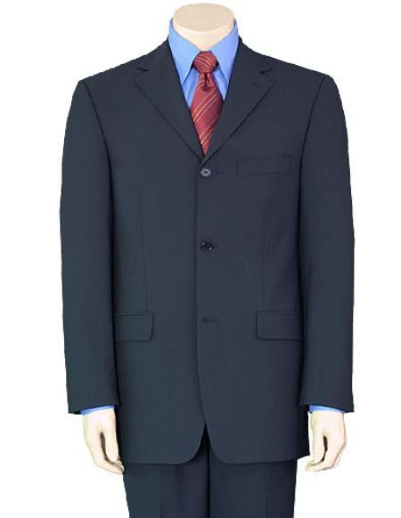 Dak Navy Blue Wool Fabric Business Mens Suit, act now only $135.00