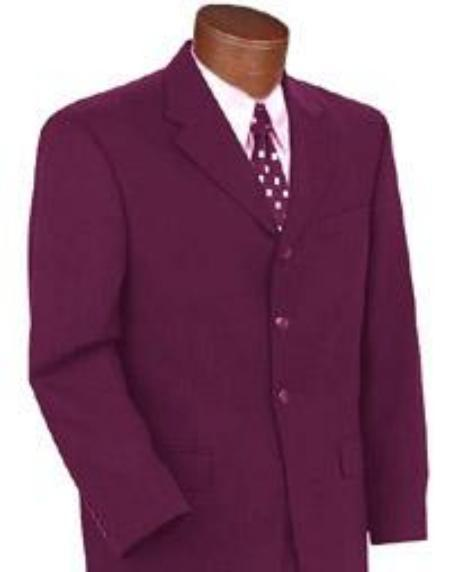 Mens Three Buttons style Brand New Burgundy Color Suit, act now only $89.00