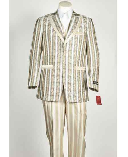 Two Button Style Mens Slim Fit Suit In Champaign , act now only $199.00