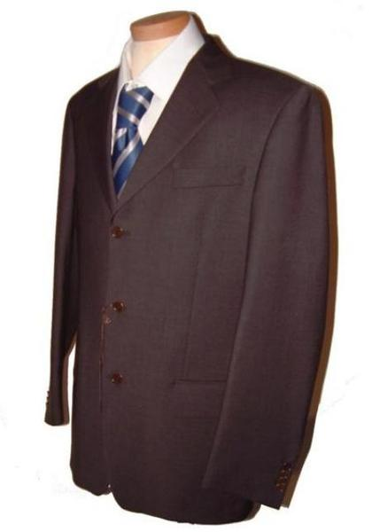 Three Button Dark CoCo Brown Single Breasted Suit, act now only $79.00