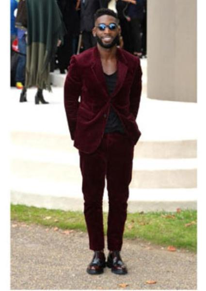 Two Button Maroon Corduroy Single Breasted Mens Suit, act now only $199.00