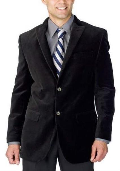 Mens Two Button Liquid Jet Black Single Breasted Suit, act now only $199.00