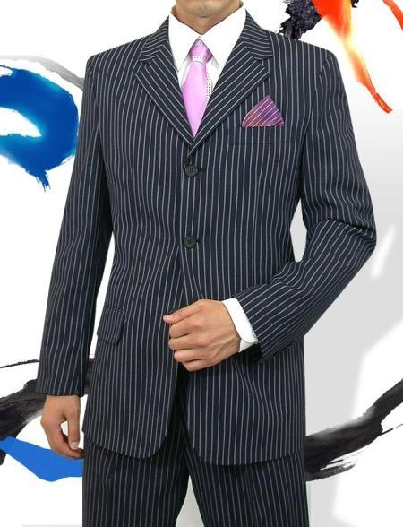 Mens Three Button Style Navy Light Weight Suit, act now only $125.00