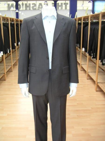 Mens Gray Single Breasted Three Buttons Style Cheap Suit, act now only $79.00