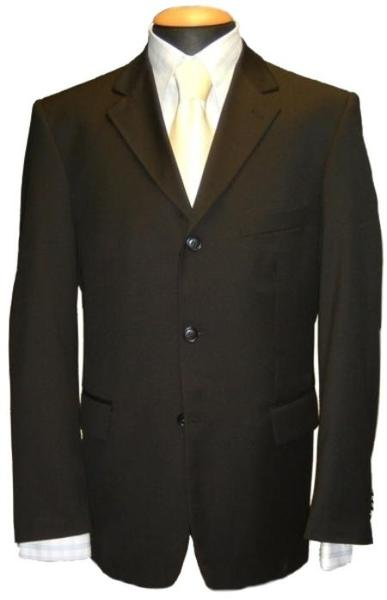 Mens Black Single Breasted Three Button Style Cheap Suit, act now only $79.00