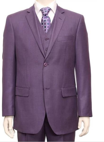Mens Two Button Style Suit In Purple Dark lavender, act now only $160.00