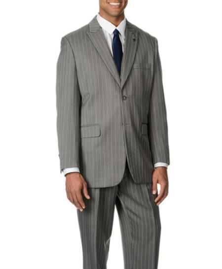 Mens Two Button Notch collar Grey Single breasted Suit, act now only $170.00