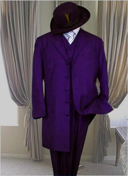 Dark Purple Classic Long Fashion Mens Zoot Suit, act now only $149.00