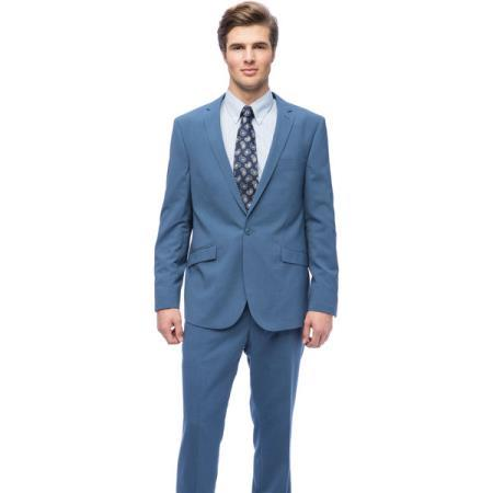 One Button West End Slim Fit Blue Mens Suit, act now only $150.00