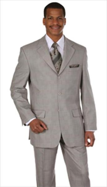 Grey Tan Houndstooth Plaid Pattern Mens Suit, act now only $99.00
