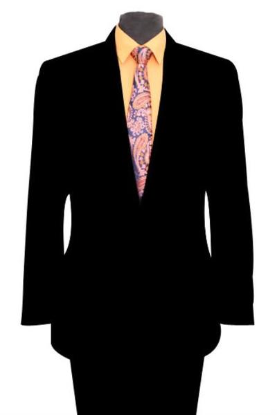 Black skinny Slim narrow Style Fit Peak Lapel Mens Suit, act now only $165.00