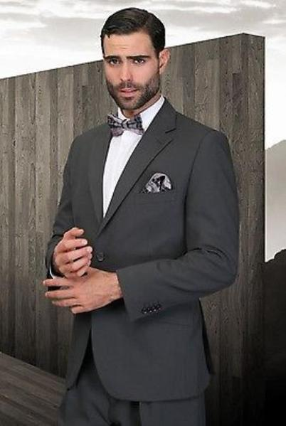 Two Button Style Dark Grey Single breasted Mens Suit, act now only $125.00