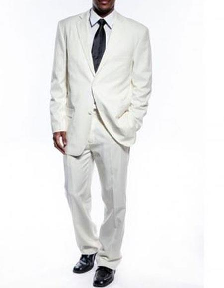 Two Button Style Single Breasted Mens Suit In Ivory , act now only $149.00